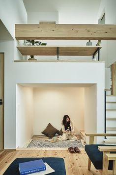 Mountain Home Interiors, Japanese House, Kid Spaces, Studio Apartment, My Dream Home, House Plans, Loft, House Design, Flooring