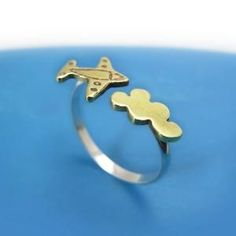 Airplane Flying Cloud Sterling silver and brass by MIKOTITI #SterlingSilverBenjaminMoore