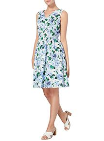 Multicoloured Floral Print Dress