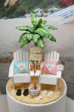 2f61fb91fdc8 Beach Beverage Beach Sign Hammock Cake by Memoriesnminiature