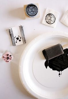 diy rubber stamp clothing tags