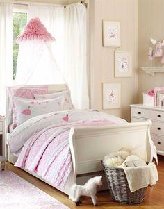 Girls Bedroom. Pottery Barn Kids