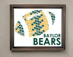 Baylor University Bears Football Print by KaleidoscopeSpinning