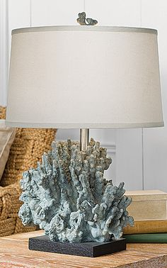 Express your coastal chic style with the Barrier Reef Coral Table Lamp.