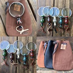 Small Magnifying Glass with Leather Personalized Pouch. Pocket or Purse Mini Magnifying Lens. Gift for Mom or Dad. Personalized Retirement Gifts, Retirement Gifts For Women, Gifts For Boss, Gifts For Brother, Outlander Gifts, Magnifying Glass, Leather Pouch, Looks Cool, Pocket