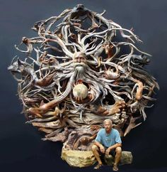 look close--this is amazing driftwood art!
