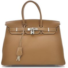 Fashionphile - HERMES Togo Birkin 35 Gold ❤ liked on Polyvore