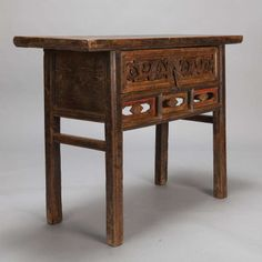 Chinese Console Altar Table With Single Drawer
