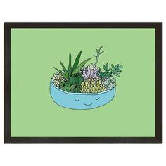 Happy Cactus Art Print - 8x10