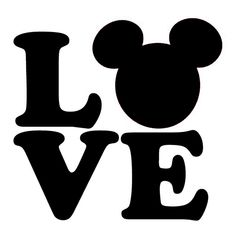 Disney Love Die Cut Vinyl Decal PV999