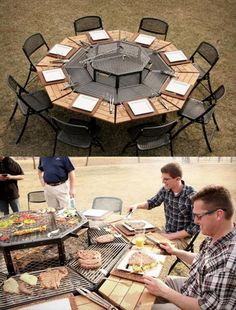 Grill picnic table