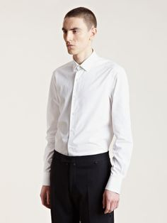 Lanvin Men's Small Collar Fitted Shirt