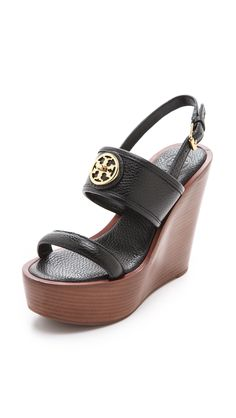 c5beeba0b8ca20 Tory Burch Wedge Sandals in Black