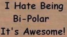 I Hate Being Bi-Polar It's Awesome!