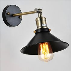 Vintage Wall Lamp Black Sconce Industrial Retro Wall Light for Bar Cafe Restaurant and Home D22cm Loft-in Wall Lamps from Lights & Lighting on Aliexpress.com | Alibaba Group