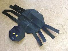 herfst spin vouwen 16 vierkantjes