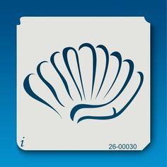 Sea shell stencil from istencils.com