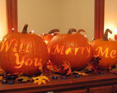 Don't love Halloween. Have always enjoyed jack-o-lanterns. Do love this proposal idea ;)
