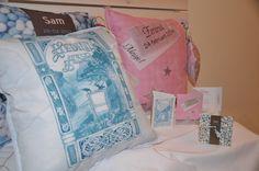 Birthcard Birthdaygift Baby Newborn Cushion