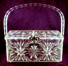 Vintage Lucite Purse Reverse Carved 3 Ball by CharmedCollectibles, $110.00