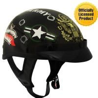 Check out Outlaw T-70 Black Glossy Motorcycle Half Helmet with Officially Licensed U.S. Army Graphics on LeatherUp.com!