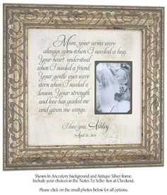 Personalized Wedding Gift, Mom Your Arms Were Always Open, Personalized Picture Frame, Mother of the Bride Gift, 16 X 16