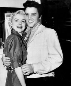 Elvis with actress Barbara Lang in april 1957 in Hollywood.