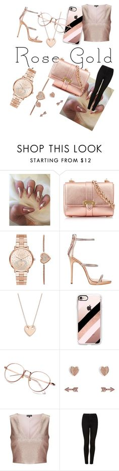 """Rise gold"" by cuzuc ❤ liked on Polyvore featuring Aspinal of London, Michael Kors, Giuseppe Zanotti, Ginette NY, Casetify, Vera Bradley, Miss Selfridge and Topshop"