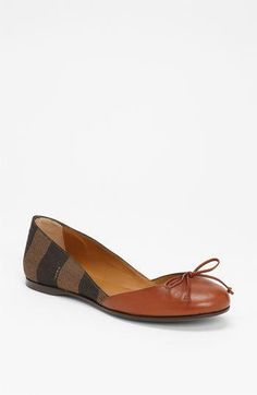 Fendi pequin #ballet #flats #shoes