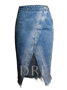Front Split Asymmetric Bodycon Womens Denim Skirt The latest trends for Woman, Man and kids. we have the latest fashion on women's and men's clothing, Accessories and Shoes # Bodycon Midi Skirt, Midi Skirts, Long Skirts, Denim Fashion, Fashion Outfits, Denim Skirt Outfits, Denim Skirts, Gland, Mode Jeans