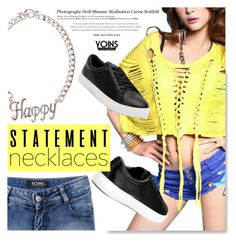 """""""Collared! Statement Necklaces at Yoins.com"""" by serepunky ❤ liked on Polyvore featuring Hedi Slimane"""