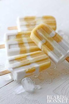 Pineapple & Ginger Coconut Cream Popsicles (Gluten Free & Vegan)