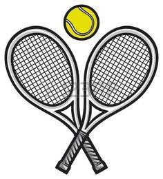 Illustration of tennis rackets and ball (tennis design, tennis symbol) vector art, clipart and stock vectors. Tennis Cake, Tennis Party, Tennis Ball Crafts, Tennis Drawing, Tennis Posters, Tennis Pictures, Tennis Serve, Tennis Tips, Tennis Elbow