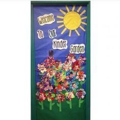 """Kindergarten classroom door for spring - """"Kinder Garden"""""""
