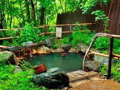 Miyama Ohan Hotel Takayama - Chartered Open-Air Bath [ MexicanConnexionforTile.com ] #bathroom #Talavera #Mexican