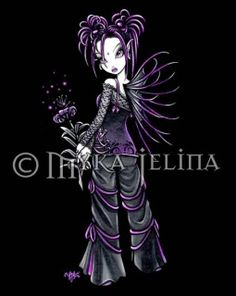 Myka Jelina is a fantasy artist living in the beautiful Missouri Ozarks. Her paintings are easily recognized by their eclectic fairies. Myka Jelina art, as unique as you are. Gothic Fantasy Art, Gothic Fairy, Dark Fantasy, Faerie Tattoo, Gothic Tattoo, Fairy Pictures, Goth Art, Fairy Art, Anime