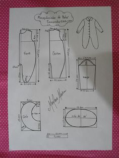 This schemes showing us how to design baby dress size when we trying to make it myself. Baby Born Clothes, Sewing Baby Clothes, Baby Sewing, Kids Dress Patterns, Baby Clothes Patterns, Sewing Patterns, Baby Knitting, Crochet Baby, Baby Mittens