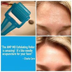 Interesting fact... in our mid-20's, collagen production begins to decrease, in our 30's it slows by 1% each year, and by 40, collagen deteriorates faster than it can be produced. But here's some good news! Rodan + Fields Redefine AMP MD Roller and Night Renewing Serum are clinically proven to safely and effectively amp up your daily skincare routine for a firmer more youthful-looking appearance. I was SO SKEPTICAL of this little plastic tool but I have seen it give amazin