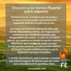 Oración a la Santa muerte para separar | Oraciones poderosas                                                                                                                                                                                 Más