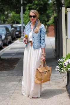 A Lacey Perspective: Refresh (forever 21 dress), Jean jacket ( of choice), baker bag