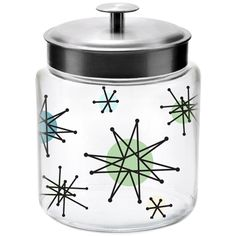Atomic Starburst 96 oz Glass Jar with Metal Lid