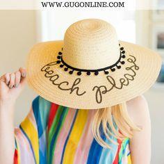 Beach Please Floppy Straw Hat 75a398a517bb