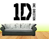 One Direction style Logo Vinyl Wall art Decal/Sticker 1 Direction