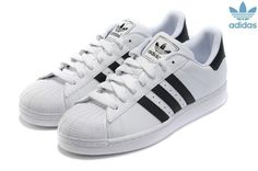 Adidas Superstar Pas Cher Homme Femme Cuir Blanche Noir Baskets Adidas Shoes  Women, Adidas eb4830ed4fda