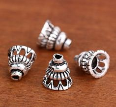 2 pcs Sterling Silver Bead caps