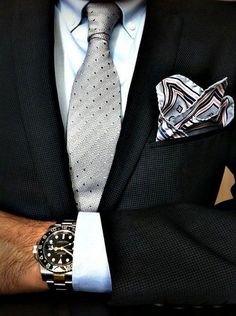 Overall nice combination but ditch this pocket square!But lose the hanky