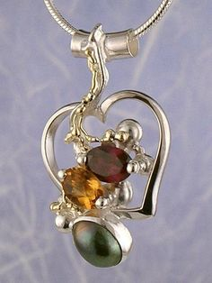 Pendant 6593, fine craft, Gregory Pyra Piro handmade heart pendant, in solid…