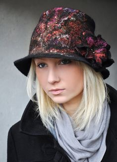 Handmade Felted Hat by ShellenD on Etsy, $95.00
