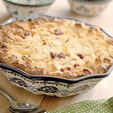☺ Rich bread pudding with the tang and color of apricots and cranberries.