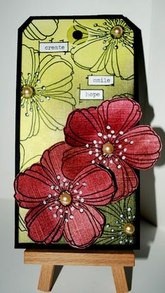 Eileen's Crafty Zone: PanPastels and a Stamp, Eileen Godwin has created a masterpiece from products available O-Ann Fabric and Craft Stores Handmade Tags, Greeting Cards Handmade, Card Tags, Gift Tags, Art Journal Pages, Art Journaling, Paper Tags, Artist Trading Cards, Tag Art